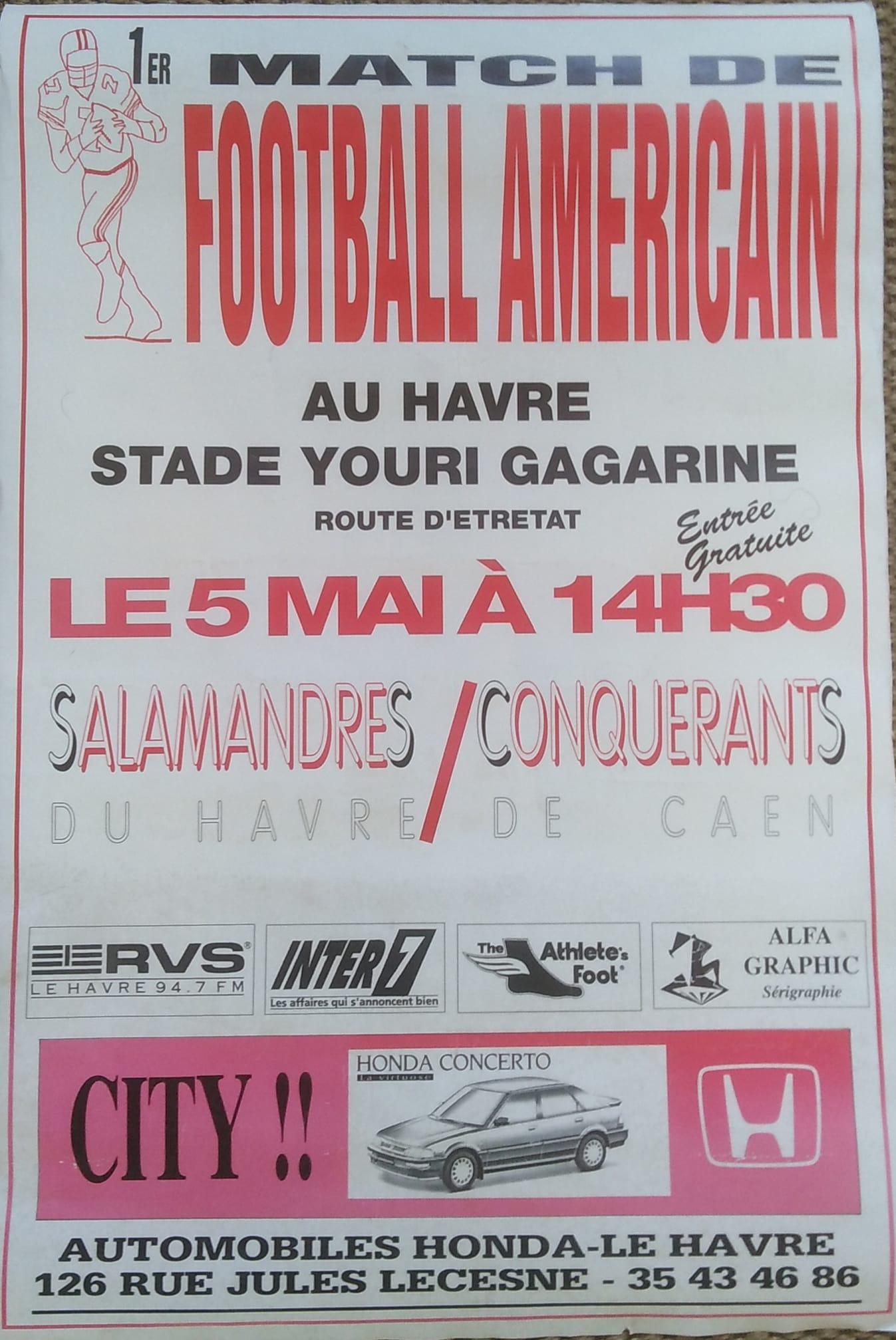 Affiche du premier match